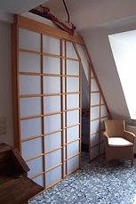 Japanische Schiebetüren mit Papierfüllung hofschreinerei Heidelberg