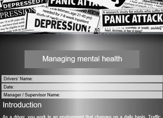 Policy - Managing mental health