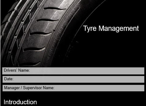 Policy & procedure - Tyre Management