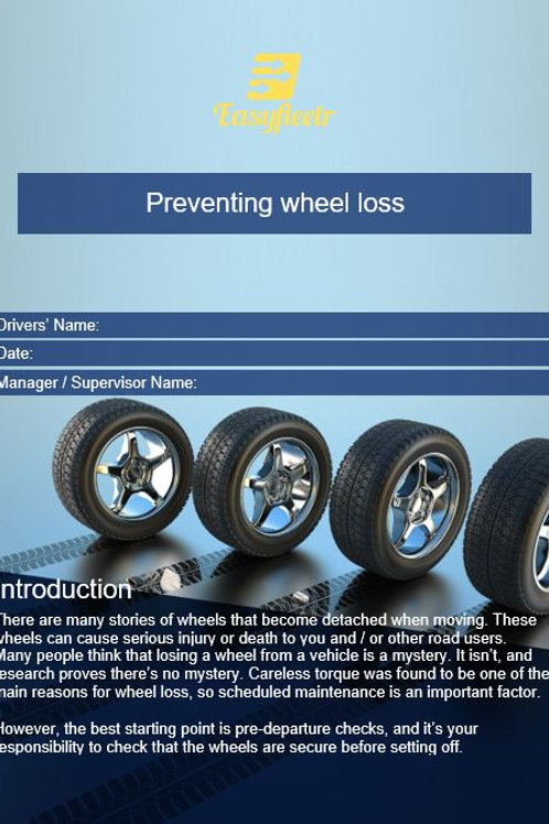 Policy and procedure - Preventing wheel loss