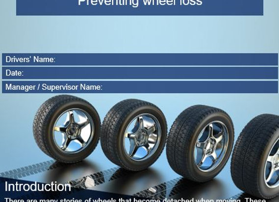 Policy & procedure - Preventing wheel loss