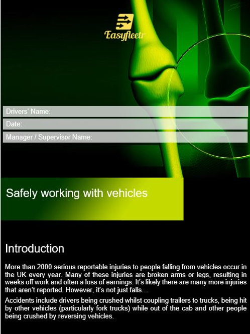Policy - Safely working with vehicles