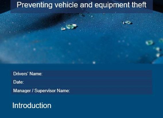 Procedure - Preventing vehicle or equipment theft