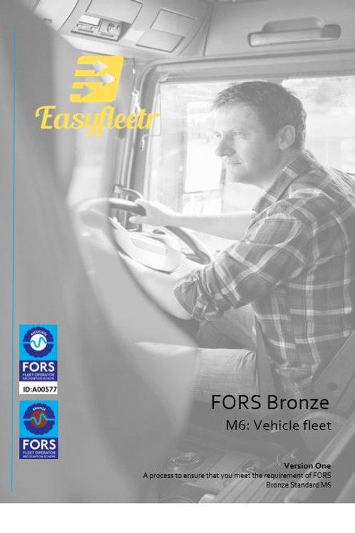 FORS Bronze: M6 Vehicle fleet