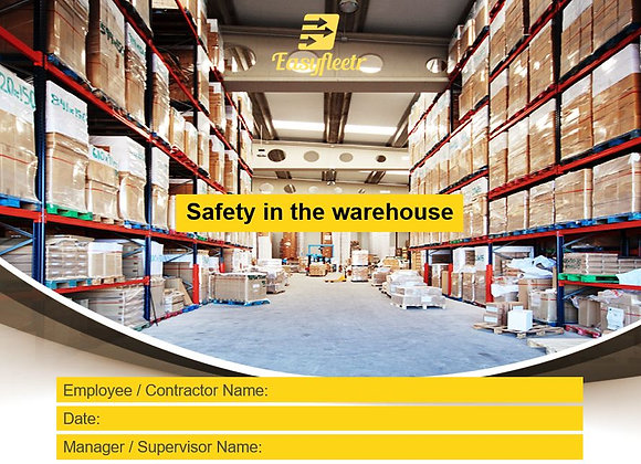 Risk assessment -Safety in the warehouse