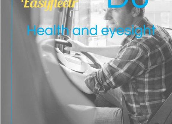 FORS Bronze: D6 Health & eyesight