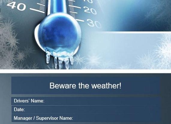 Procedure - Beware the weather!