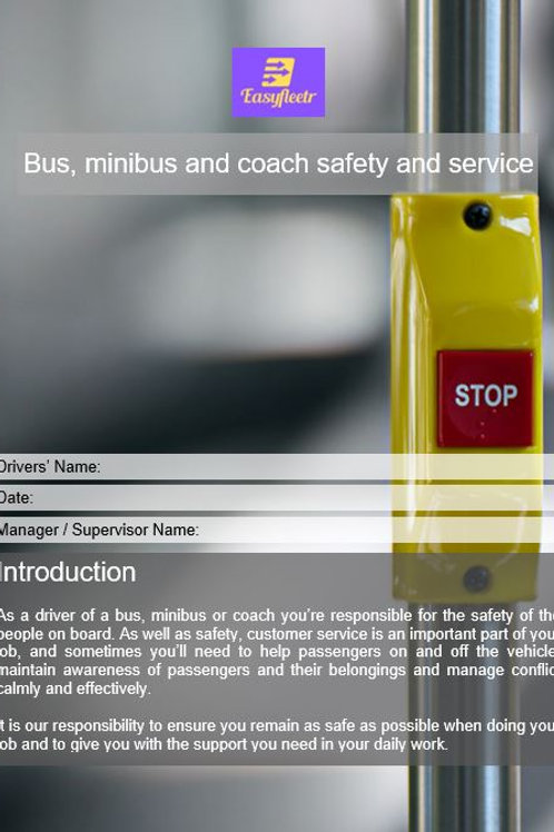 Policy - Bus, minibus and coach safety and service