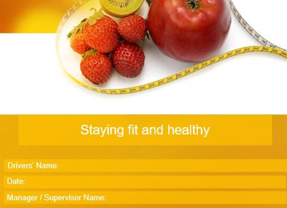 Policy - Staying fit and healthy