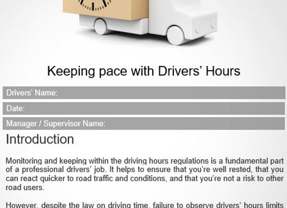 Policy - Keeping pace with Drivers' Hours