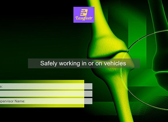 Risk assessment - Safely working in or on vehicles