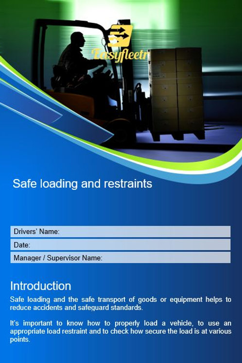 Policy and procedure - Safe loading and restraints
