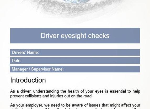 Policy & procedure - Driver eyesight checks