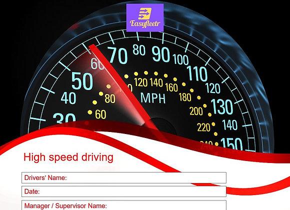 Risk assessment - High speed driving
