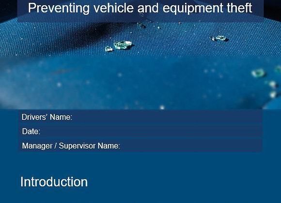 Procedure - Preventing vehicle or equipment theft