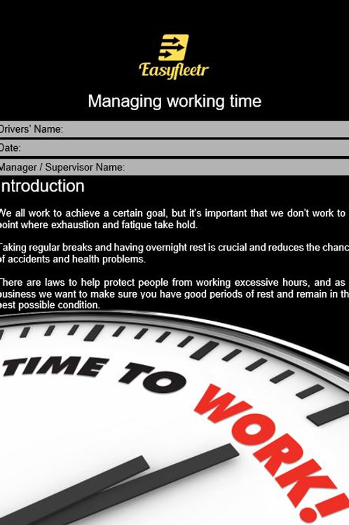 Policy - Managing working time