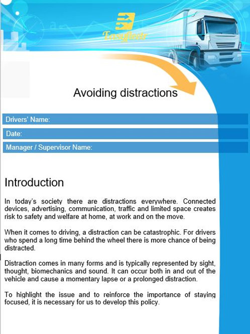Policy - Avoiding distractions