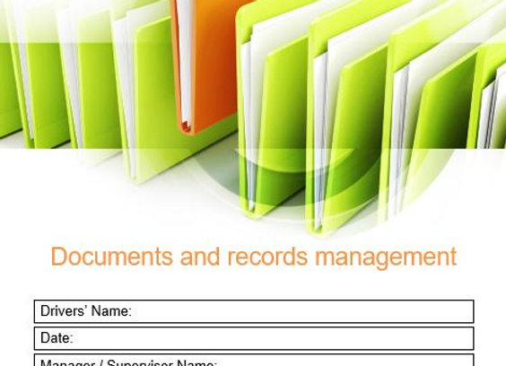 Procedure - Documents and records management