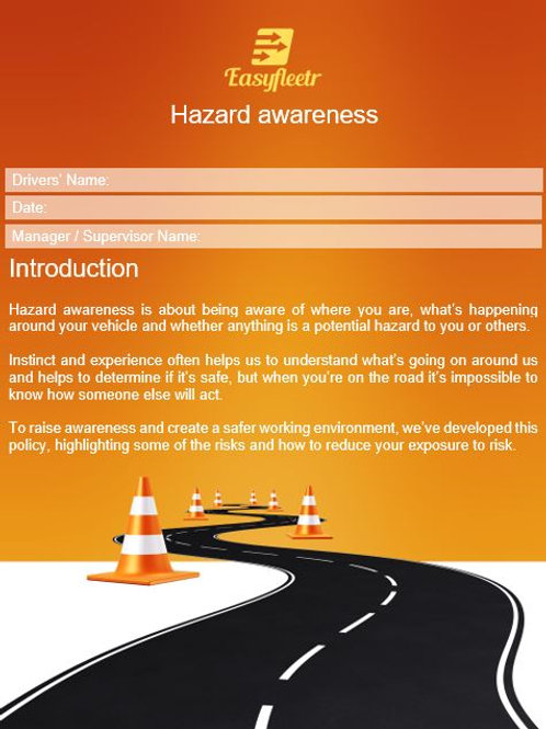 Policy - Hazard awareness