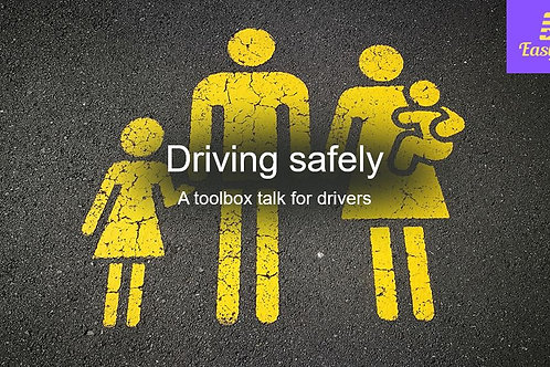 Toolbox talk - Driving safely
