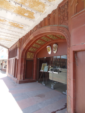 Front facade under marquee