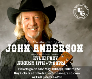 Country Legend John Anderson to Play at the Grand