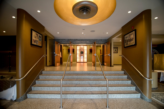Lobby entrance staircase