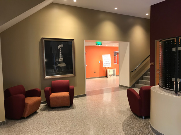 Lower lobby looking into concessions hallway