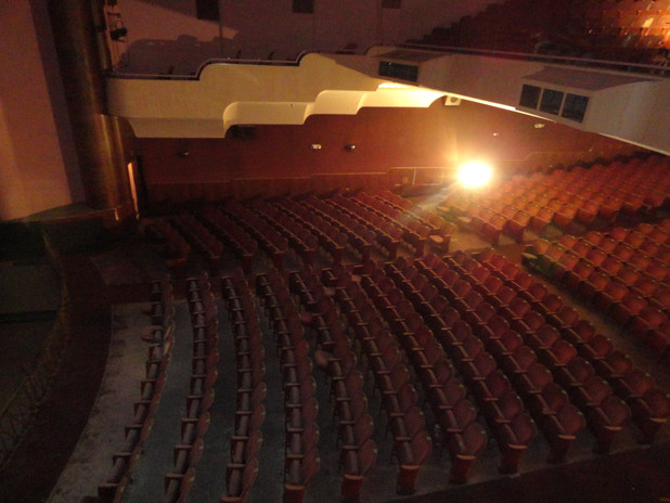 Performance hall view from loge