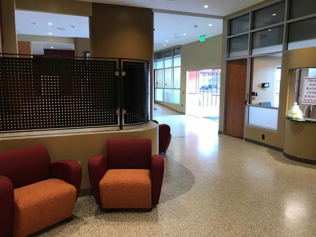 Lower lobby near new box office