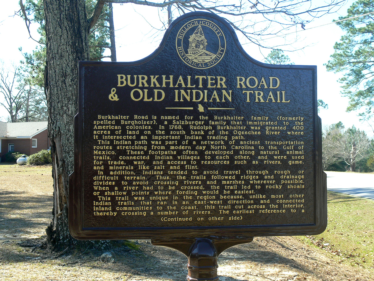 Burkhalter Road & Old Indian Trail