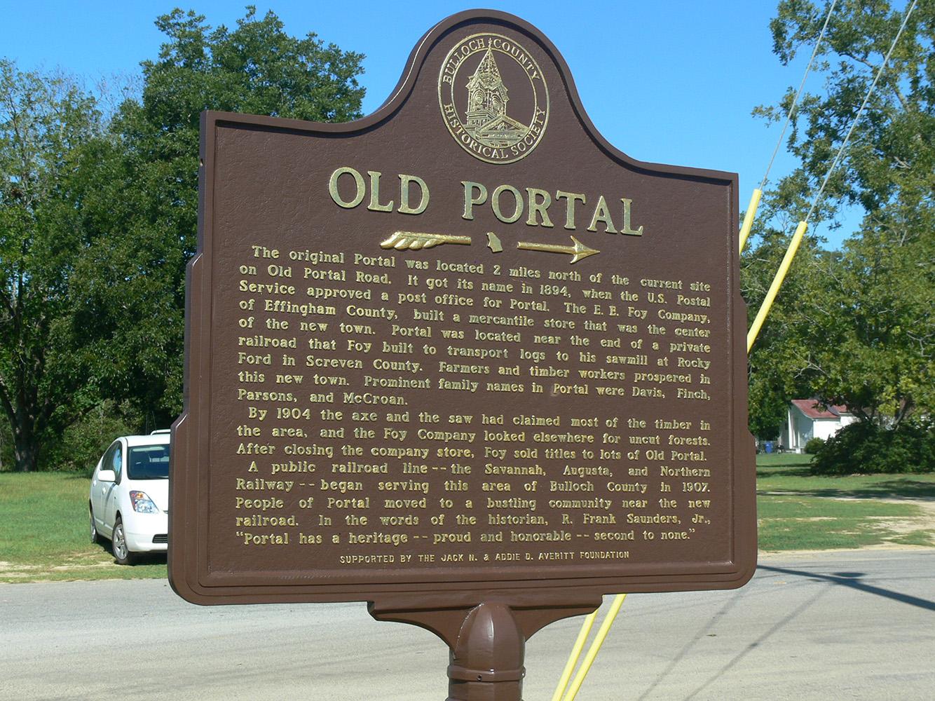 Old Portal, Marker Dedication