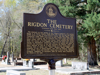 Newest Historical Marker Dedicated: Rigdon's Mill & The Rigdon Cemetery