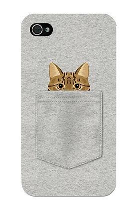 Brown Cat in Grey Pocket