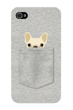 Brown Bulldog in Grey Pocket