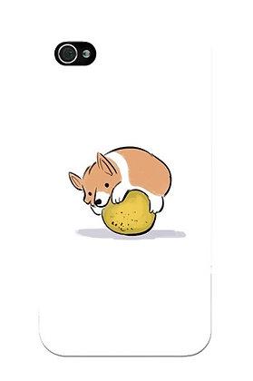 Corgi Hugging Cantaloupe
