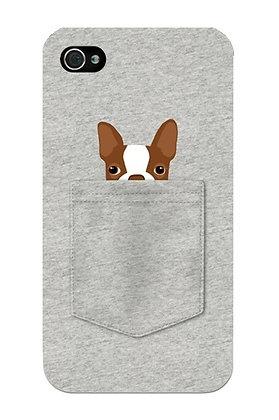 Brown Terrier in Grey Pocket