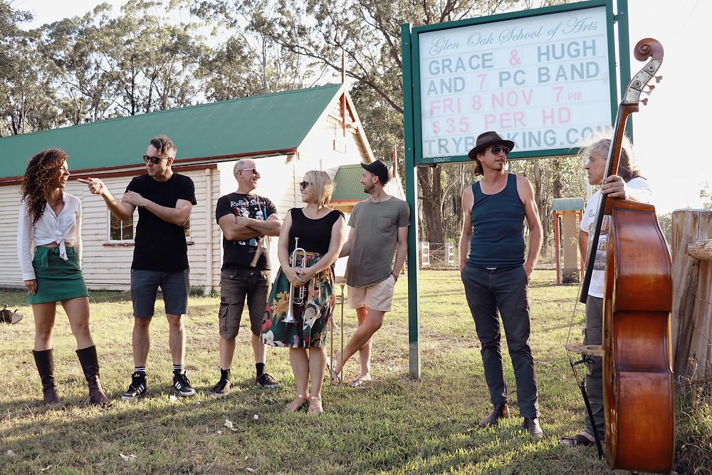 Grace and Hugh - Piano Pushers: 7 Piece Big Band Concert Glen Oak Hall NSW Australia (Grace and Hugh Piano Songwriter Blog)