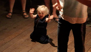 Grace and Hugh - Piano Pushers: Baby Dancing to music at fire brigade party Nymboida Australia (Grace and Hugh Piano Songwriter Blog)