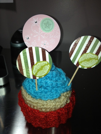 Winter/Holiday cupcake picks