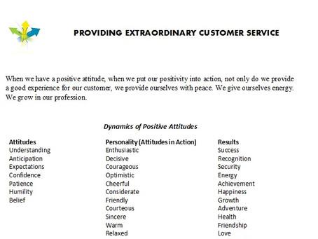 Extraordinary Service
