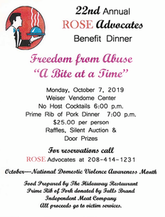 22nd Annual Rose Benefit Dinner 2019