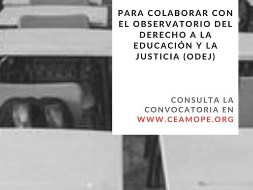 Convocatoria permanente para colaborar con el Observatorio del Derecho a la Educación y la Justicia