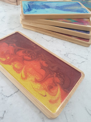 Flaming Sunset Trinket Tray