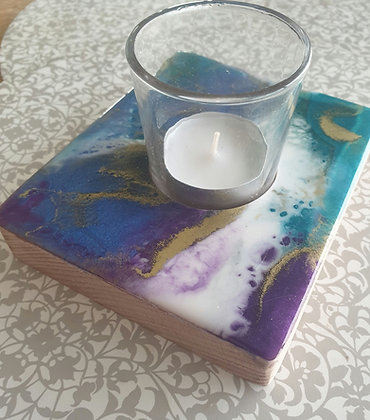 Colorful Square Candle Tray