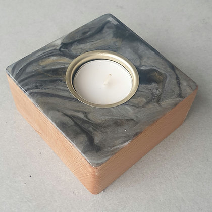 Black, Grey & Gold Candle Block