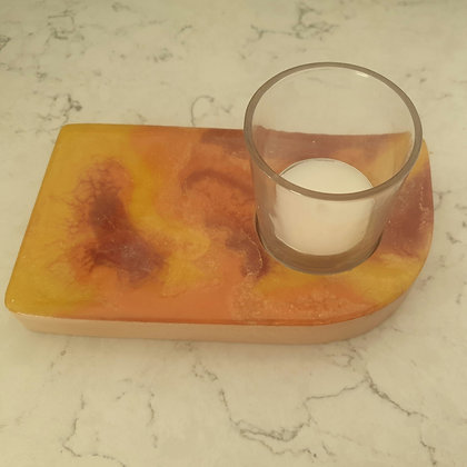 Autumnal Curve Candle Tray