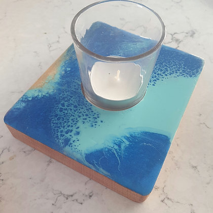 Ocean Bubbles Square Candle Tray