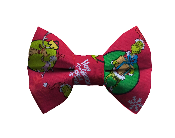 Red Grinch Bow Tie