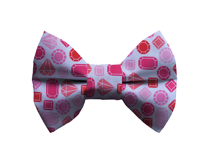 Pink Gem Bow Tie - From $10
